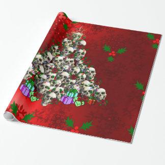 Papier Cadeau Les crânes de Noël