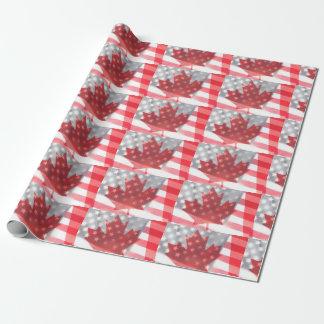 Papier Cadeau Les drapeaux transparents du Canada et des