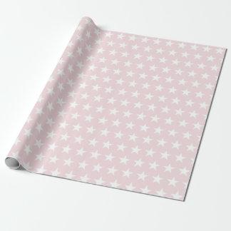 Papier Cadeau Les étoiles blanches rougissent conception chic