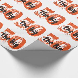 Papier Cadeau Les grands 50, anniversaire, noir, texte orange