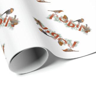 Papier Cadeau Les merles donnent au papier d'emballage