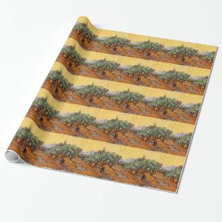 Papier Cadeau Les oliviers de Vincent Van Gogh (Olives trees)