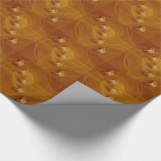 Papier Cadeau les papillons de cuivre et la fractale ont couvert
