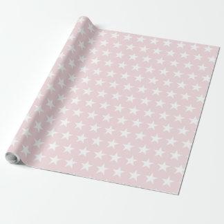 Papier Cadeau L'étoile blanche rougissent conception élégante