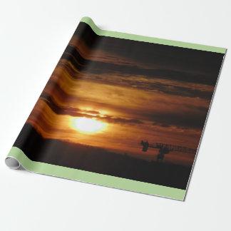 Papier Cadeau Lever de soleil de matin de Toronto