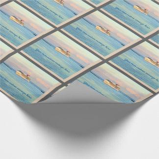Papier Cadeau Lever de soleil en pastel avec la coutume de
