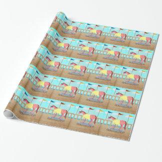 Papier Cadeau Licorne de balade d'été