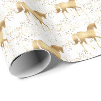 Papier Cadeau Licorne d'or