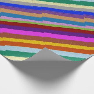 Papier Cadeau Ligne graphique colorée motif de papier