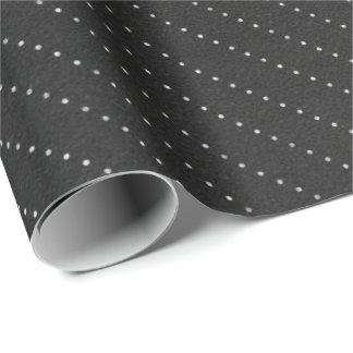 Papier Cadeau Lignes blanches noires élégant sensible de rayures