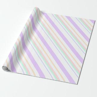 Papier Cadeau lignes échantillon rayé de lignes couleurs