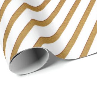 Papier Cadeau Lignes sensibles d'or blanches de rayures urbaines