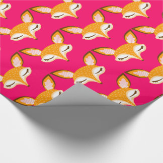 Papier Cadeau Lil Foxie - papier d'emballage de motif Girly