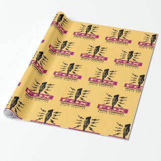Papier Cadeau Logo vintage de microphone de raretés audio de