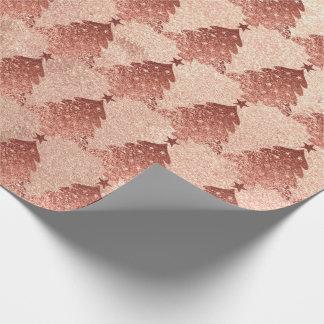 Papier Cadeau L'or de poudre de rose de rose rougissent cuivre
