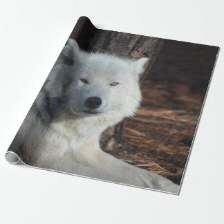 Papier Cadeau Loup arctique adorable