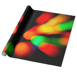 Papier Cadeau Lumières colorées de bokeh