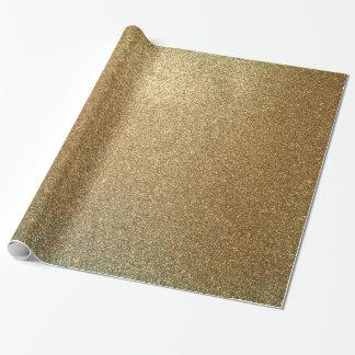 Papier Cadeau Luxe d'étincelle de parties scintillantes d'or