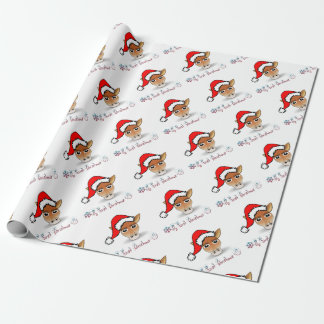 Papier Cadeau Ma première girafe de bébé de Noël