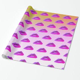 Papier Cadeau Madame Mouth, papier d'emballage de lèvres