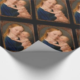 Papier Cadeau Madonna avec l'enfant du Christ
