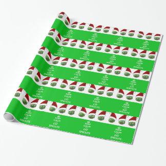 Papier Cadeau Maintenez calme et mangez les pousses