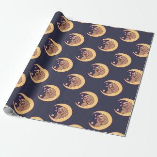 Papier Cadeau Maman Sloth et bébés de lune