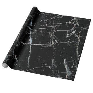 Papier Cadeau marbre noir