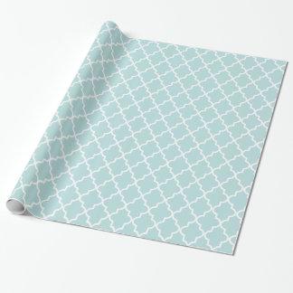 Papier Cadeau Marocain de bleu de ciel et blanc moderne