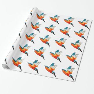 Papier Cadeau Martins-pêcheur de vol