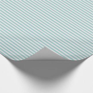 Papier Cadeau Menthe assez mince et rayures blanches