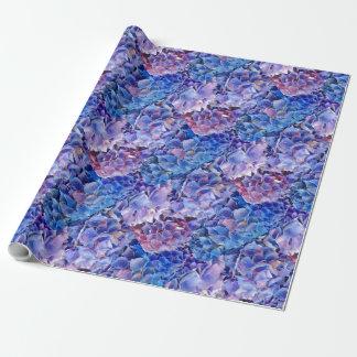 Papier Cadeau Mer d'enveloppe de cadeau bleue de fleurs