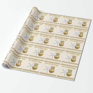 Papier Cadeau Mers et enveloppe de cadeau tropicale de Noël de