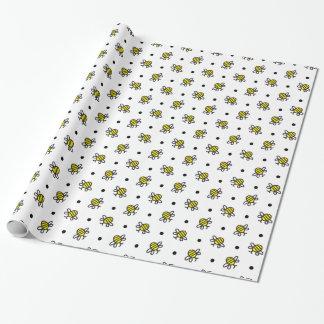 Papier Cadeau Mignon gaffez l'abeille que le motif choisissent