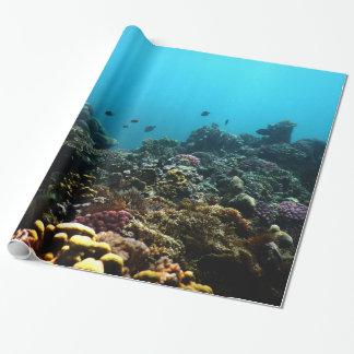 Papier Cadeau Milieu marin dans le Pacifique