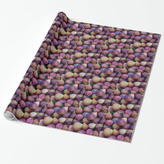 Papier Cadeau Miscellaneous - Purple Figs Pattern