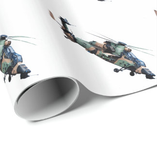 Papier Cadeau Miulitary Helicopterl