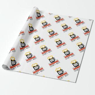 Papier Cadeau Modèle de conception de logo de brasserie de