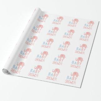 Papier Cadeau Modèle de conception d'invitation de baby shower