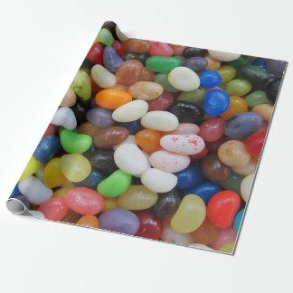 Papier Cadeau Modèle de texture de sucrerie de vert bleu de noir