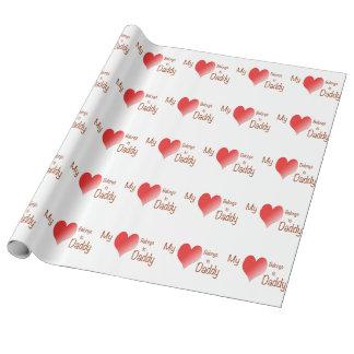 Papier Cadeau Mon coeur appartient au papa