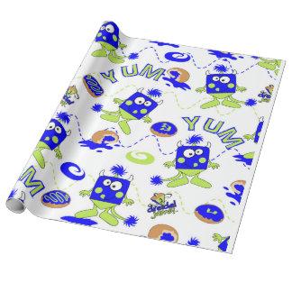 Papier Cadeau Monstres bleus de Dreidel pour Hannukah
