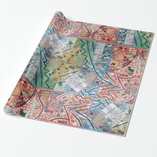 Papier Cadeau Mosaïque de patchwork d'art de Phoenix