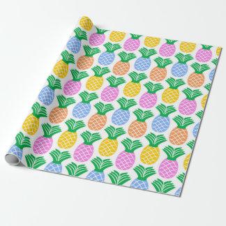 Papier Cadeau Motif à la mode coloré d'ananas