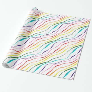 Papier Cadeau Motif abstrait coloré de rayures