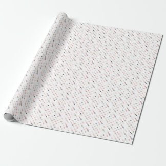 Papier Cadeau Motif abstrait de formes dans des couleurs en