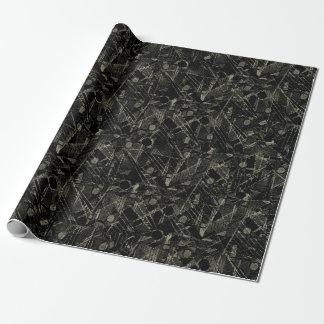 Papier Cadeau Motif abstrait de patchwork de collage