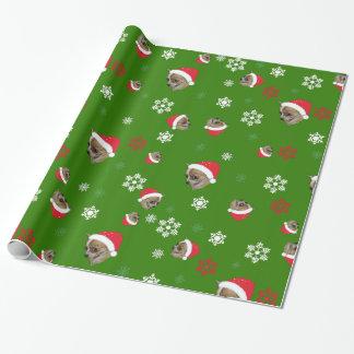 Papier Cadeau Motif adorable de Noël de chiwawa