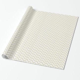 Papier Cadeau Motif beige et blanc V de sable grand de Chevron