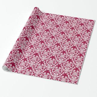 Papier Cadeau Motif blanc classique de damassé